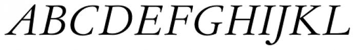 Garamond Antiqua Pro Italic Font UPPERCASE