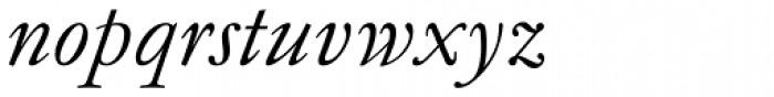 Garamond Antiqua Pro Italic Font LOWERCASE