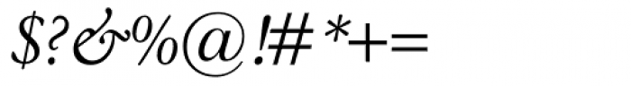 Garamond Classico Italic Font OTHER CHARS