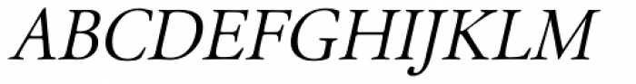 Garamond Classico Italic Font UPPERCASE