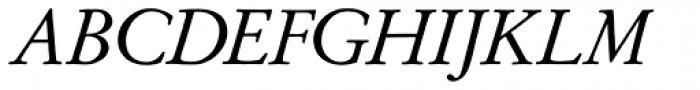 Garamond No 2 Italic Font UPPERCASE