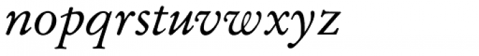 Garamond No 2 Italic Font LOWERCASE