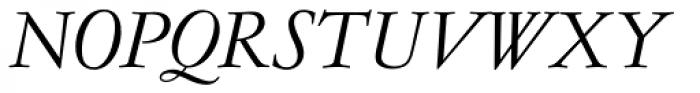 Garamond No 4 Light Italic Font UPPERCASE