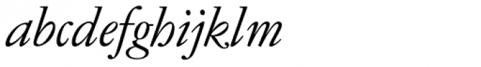 Garamond No 4 Light Italic Font LOWERCASE