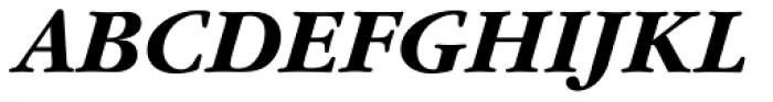 Garamond Nova Pro Bold Italic Font UPPERCASE