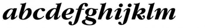 Garamond Nova Pro Bold Italic Font LOWERCASE