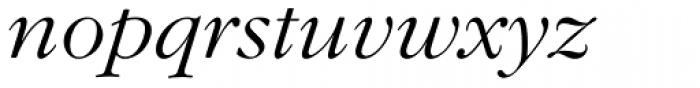 Garamond Nova Pro Light Italic Font LOWERCASE