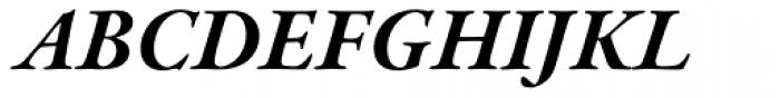 Garamond Premr Pro Bold Italic Font UPPERCASE