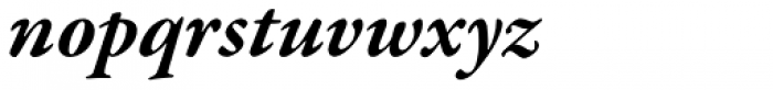 Garamond Premr Pro Bold Italic Font LOWERCASE