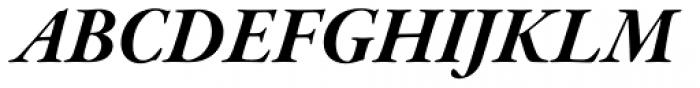 Garamond Premr Pro SubHead Bold Italic Font UPPERCASE
