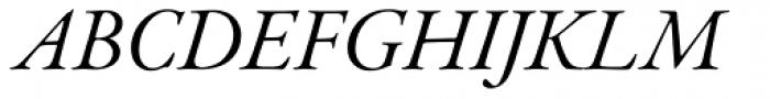 Garamond Premr Pro SubHead Italic Font UPPERCASE