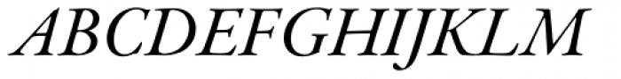Garamond Premr Pro SubHead Med Italic Font UPPERCASE