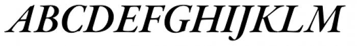 Garamond Premr Pro SubHead SemiBold Italic Font UPPERCASE