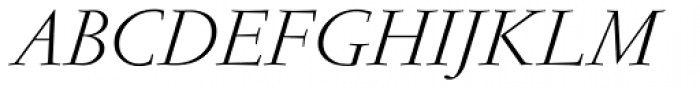 Garamond RR Light Italic Font UPPERCASE