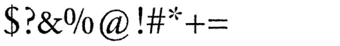 Garamond Rough H EF Font OTHER CHARS