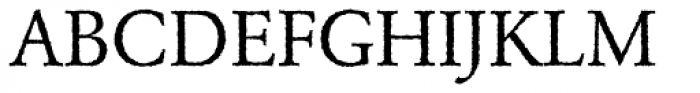 Garamond Rough H EF Font UPPERCASE