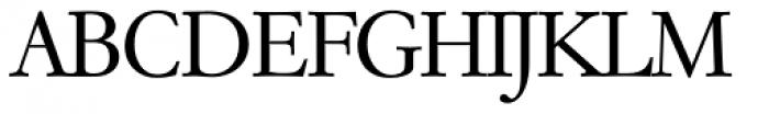 Garamond TS Light Font UPPERCASE