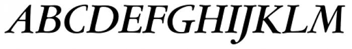 Garamont Amst EF Med Italic Font UPPERCASE
