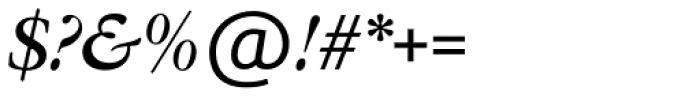 Garamont Amst SB Med Italic Font OTHER CHARS