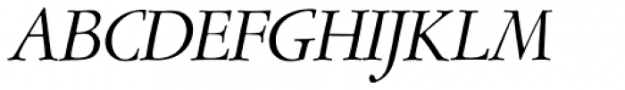 Garamont Amst SH Italic Font UPPERCASE