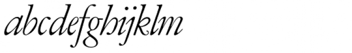 Garamont Amst SH Italic Font LOWERCASE