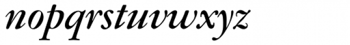 Garamont BQ Medium Italic Font LOWERCASE