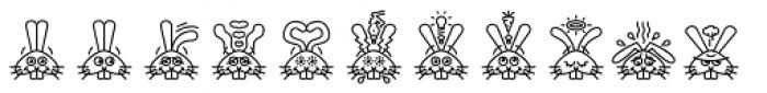 GarciaToons Bunny Font UPPERCASE