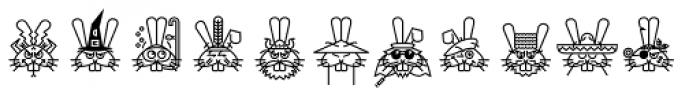 GarciaToons Bunny Font LOWERCASE
