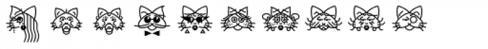 GarciaToons Cat Font OTHER CHARS
