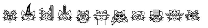 GarciaToons Cat Font LOWERCASE