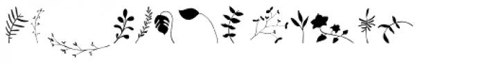 Garden Dingbats Font UPPERCASE