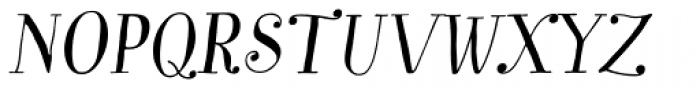 Garden Essential Alt Italic Font UPPERCASE