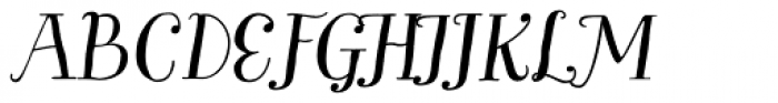 Garden Pro Italic Font UPPERCASE