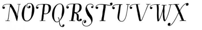 Garden Swash Alt Italic Font UPPERCASE
