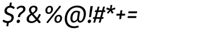 Gardenia Italic Font OTHER CHARS