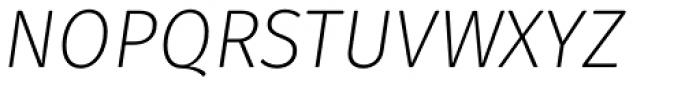 Gardenia Light Italic Font UPPERCASE
