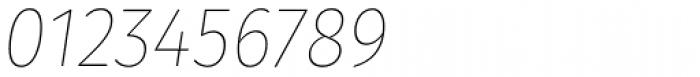 Gardenia Thin Italic Font OTHER CHARS