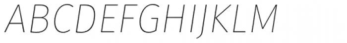 Gardenia Thin Italic Font UPPERCASE