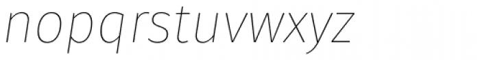 Gardenia Thin Italic Font LOWERCASE