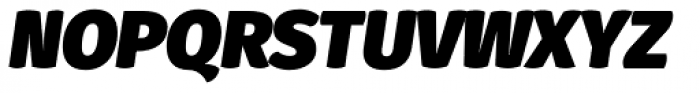Gardenia UltraBlack Italic Font UPPERCASE