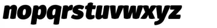 Gardenia UltraBlack Italic Font LOWERCASE