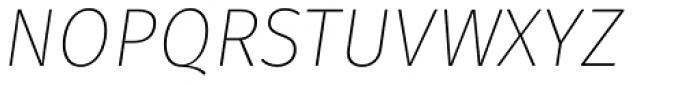 Gardenia UltraLight Italic Font UPPERCASE