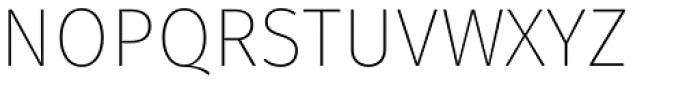 Gardenia UltraLight Font UPPERCASE