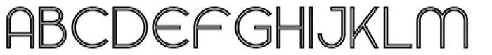 Gardens Inline Font LOWERCASE