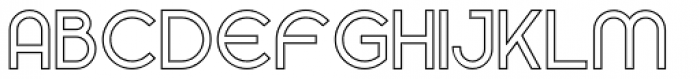 Gardens Outline Font LOWERCASE