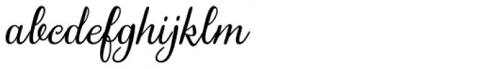 Gardeny Font LOWERCASE