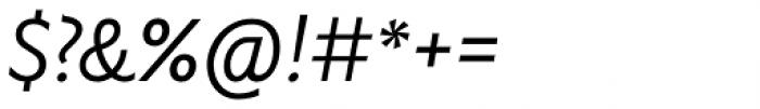 Gardner Sans Light Italic Font OTHER CHARS