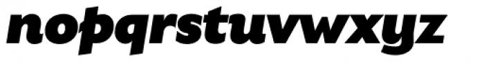 Gardner Sans Mammoth Italic Font LOWERCASE