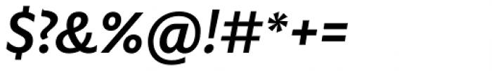 Gardner Sans Medium Italic Font OTHER CHARS