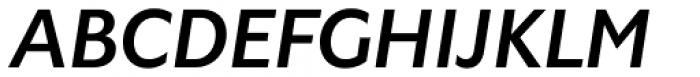 Gardner Sans Medium Italic Font UPPERCASE